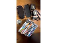 PSP, Hard Case, 10 Games, 2 Game Cases, 1 Film, 4GB Memory Card, Charger - Excellent Condition