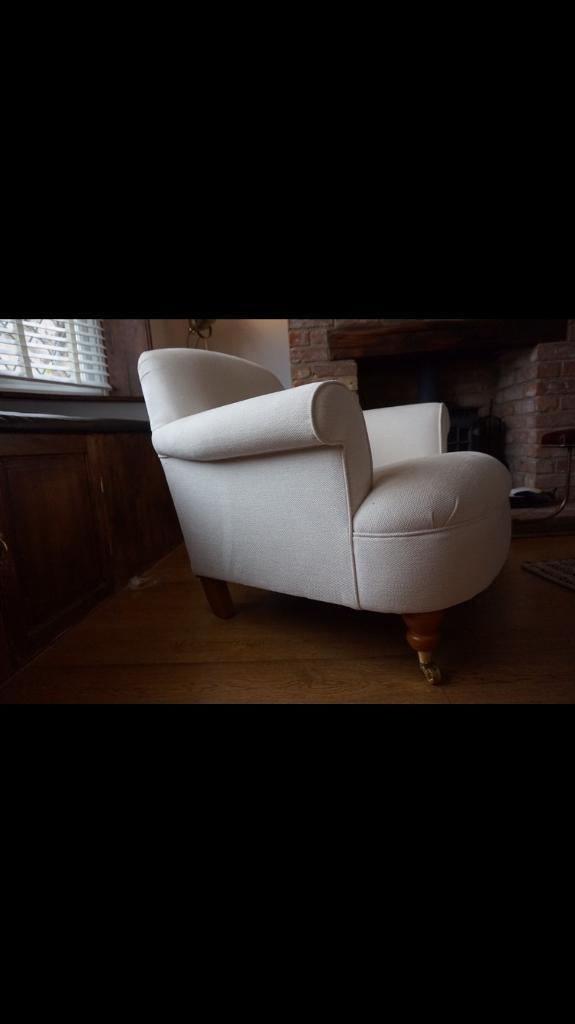 Laura ashley harbrook armchair dalton fabric beautiful condition