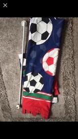 NEXT football curtains & Pole
