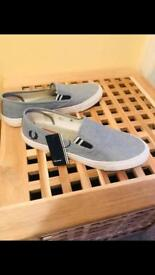 Slip On Fred Perry Pumps. Size 8