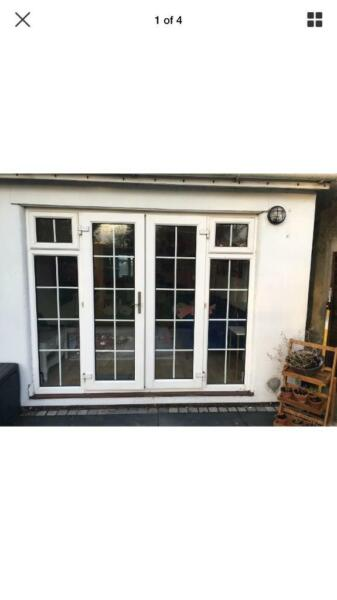 Exterior external upvc Georgian Bar double Glazed french doors & Side Windows. for sale  Harlow, Essex