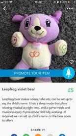 Leapfrog violet teddy fully working