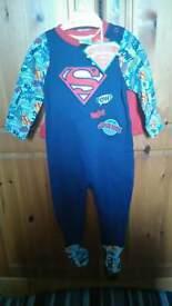 Superman babygrow with detachable Cape