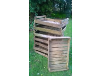 8 x Vintage wooden fruit/veg trays great for display etc HELSTON £6 each/£10 for 2