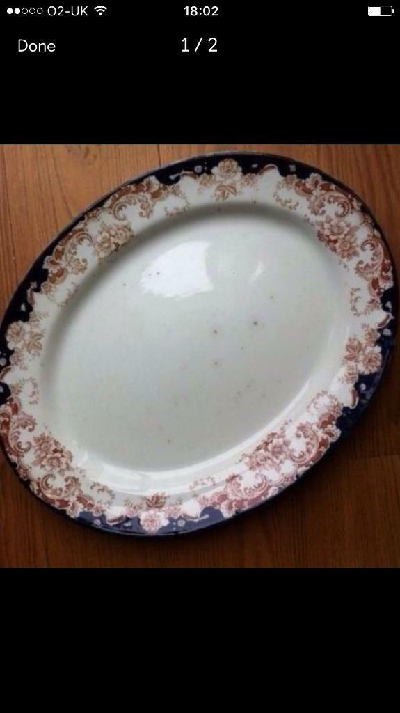 Antique Plate. Large Serving Plater