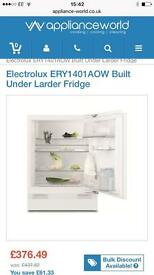 Brand new Electrolux built-under fridge