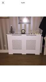 2 matching white radiator covers in excellent condition
