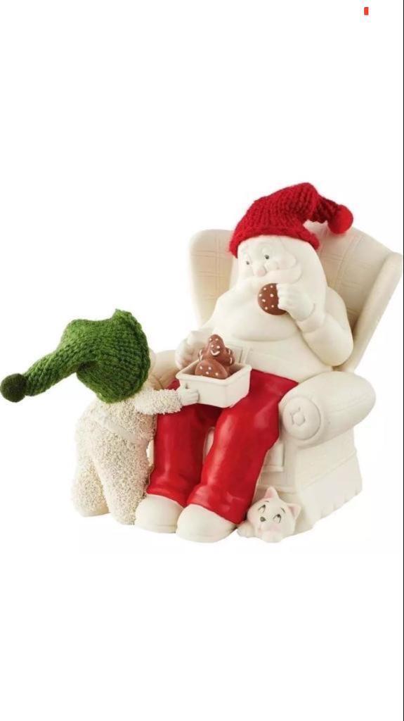 Cookies with Santa figurine.