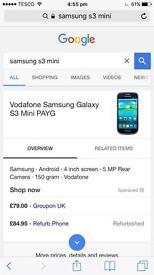 Samsung S3 Mini White £55