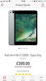 Apple iPad 4 mini* WiFi * 128GB* Space Grey* new & sealed