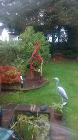 Garden steel sculpture