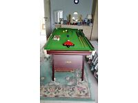 6 foot Riley snooker table, immaculate condition, snooker balls and pool balls and accessories