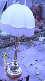 standard lamp & table lamp in brass