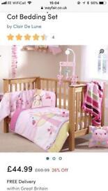 Clair de lune cot bed set
