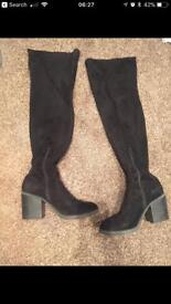 New look size7 thigh high boots