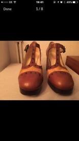Orla Kiely ponyskin shoes Size 6