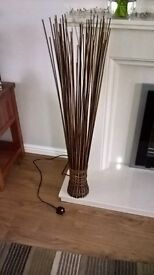 Floor standing Lamp. Next wicker construction. Excellent contruction £10