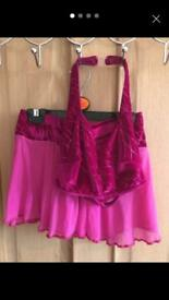 3 piece pink dance costume