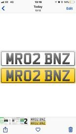Private plate, cherished number plate MR BEN