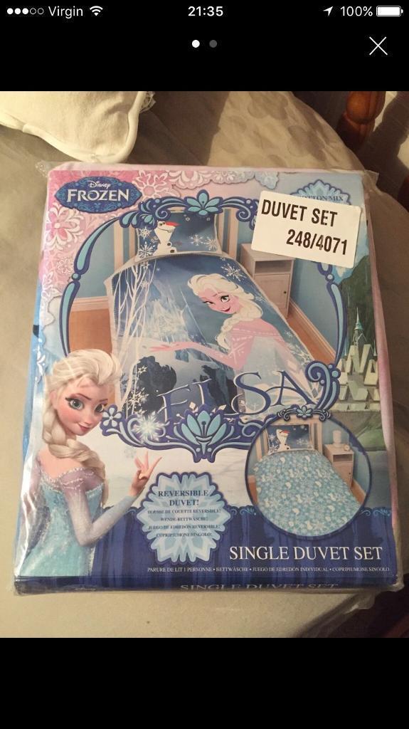 Disney Frozen Elsa Single Duvet Set Brand New In Packaging In
