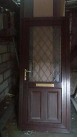 upvc door half glass with keysin good condition 36inch wide x81inch high call 07498143887