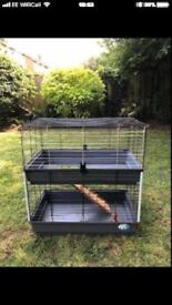 Double pet cage for sale