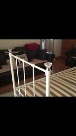 Single metal metal frame bed from NEXT