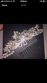 Wedding/ event hair comb. Pearl and diamanté