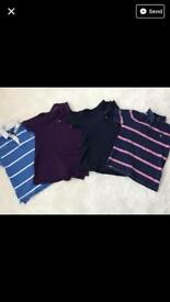 Ralph Lauren polo tops - all genuine aged 10-12