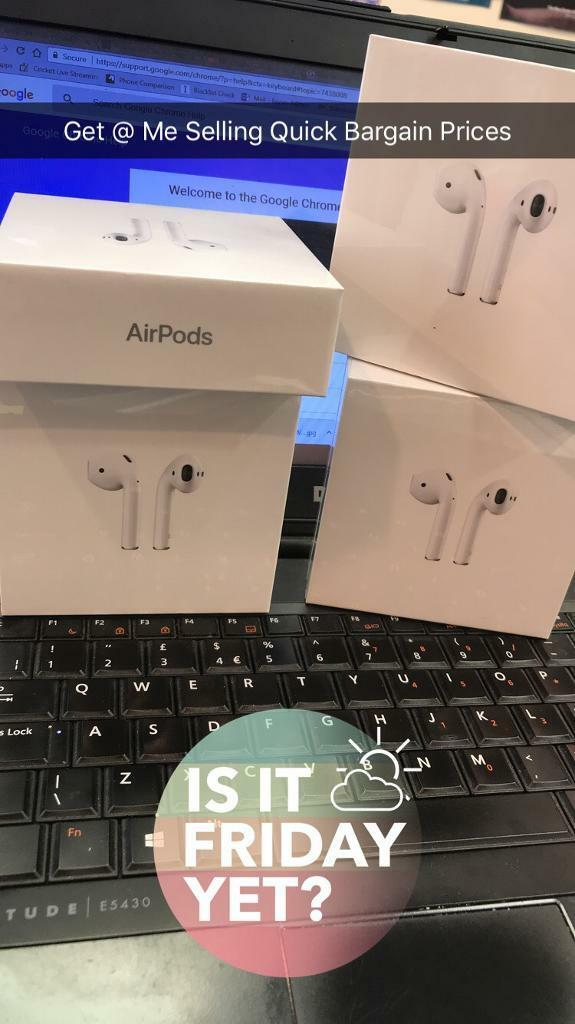 Apple AirPods Brand New Comes With 12 Months Apple Warranty And Proof Of Purchase
