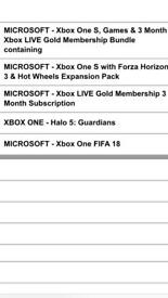 NEW XBOX ONE S with games