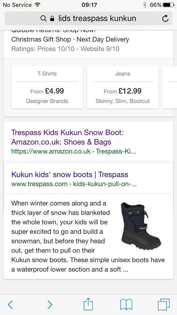 Trespass kids Kumkum snow boot excellent condition