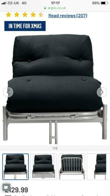 Single Metal Futon Sofa Bed In
