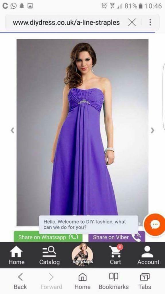 4x Cadbury purple bridesmaids dresses | in Barnsley, South Yorkshire ...