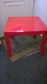 Ikea Red coffee table 22in square 18in high approx