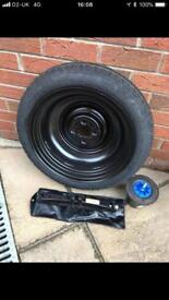 Toyota Yaris spare tyre wheel