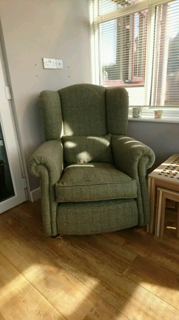 Loch Leven Harris Tweed Wing Chair In Sheffield South
