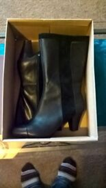 ladies clarks black boots new boxed 5.5