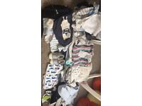 Baby clothes bundle including vests shoes bibs outfits hats tops