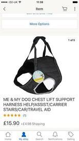 Dog harness lift aid