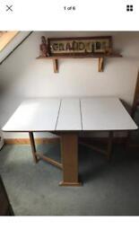 Vintage retro drop leaf Formica table