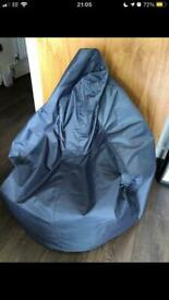 Grey Beanbag chair adult/kids indoor and outdoor