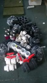 """PVC Plumbing 84 miscalaneous fittings 2"""" & 3"""" £55 the lot"""