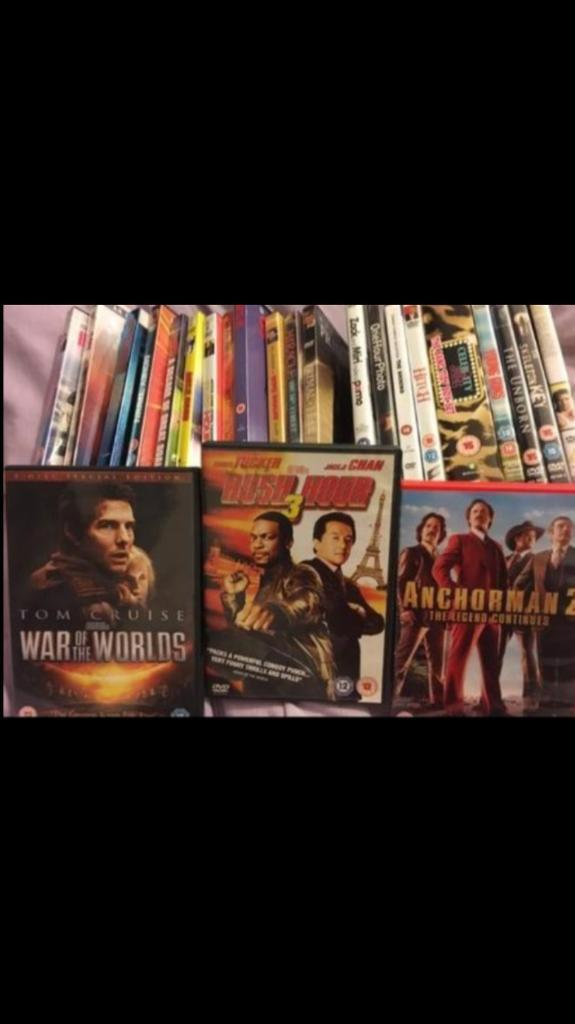 *100 DVD's for sale job lot perfect for car boot*