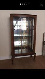 Display cabinet, storage. Vintage 1950's