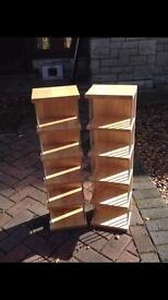 Oak DVD stands