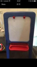 ELC black or white board free standing easel