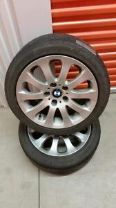 (E35) Pneus Ete - Summer Tires 225-45-17 Continental RunFlat + Mag 17 pouces/inches BMW