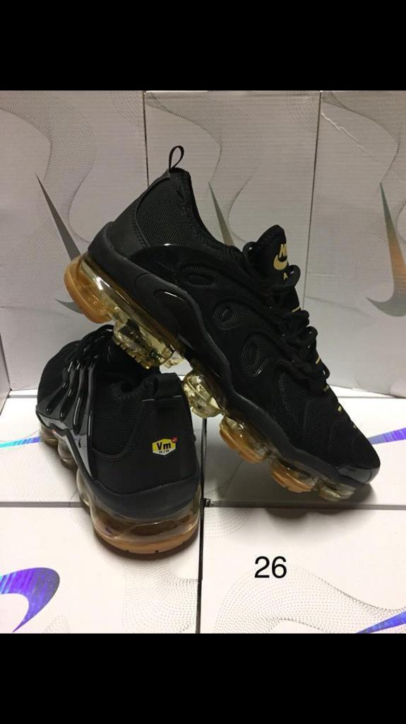 brand new e8cf2 07833 Nike Air vm Tn vapormax Plus flyknit vms tns New In Box all black | in New  Basford, Nottinghamshire | Gumtree