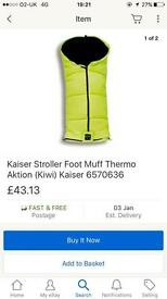 Kaiser thermo footmuff. Brand new